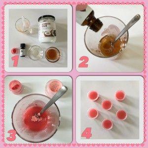 Zelf lippenbalsem maken1 met makkelijke ingredienten honing, kokosolie etc.
