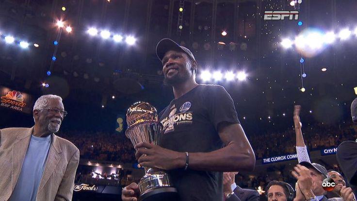 Video: NBA MVP Kevin Durant reacts to Warriors win http://abcnews.go.com/GMA/video/nba-mvp-kevin-durant-reacts-warriors-win-48001525?utm_campaign=crowdfire&utm_content=crowdfire&utm_medium=social&utm_source=pinterest