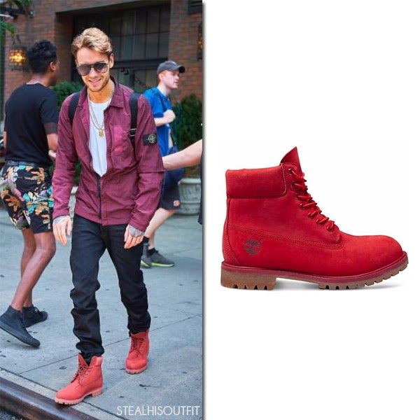 Liam Payne in red leather ankle boots New York City July 22 2017 Men's fashion
