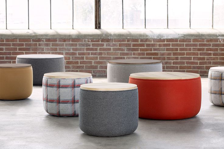 The distinct, clean lines and subtle curves of the Breck Tables work well in clusters, as a single work surface, or even as an ottoman. Choose your top from White Laminate, Ash or Walnut veneer.
