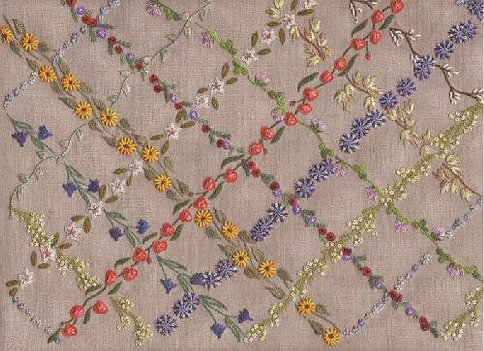 I embroidery stitches sampler by french