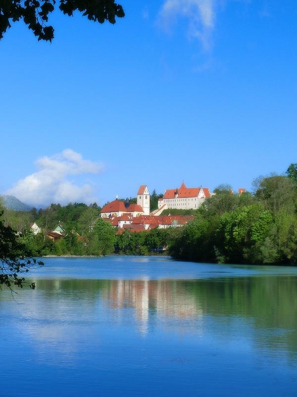 The wonderful city of #Fuessen in Germany. Directly near the #Neuschwanstein Castle.: Hohenschwangau Castle, Neuschwanstein Castle