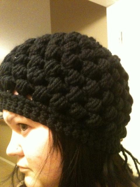 My black puff stitch hat!