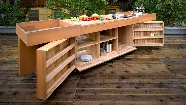 ARA ALFRESCO - mobilní venkovní dřevěná kuchyň