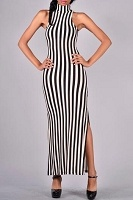 Marilyn Striped Maxi Dress