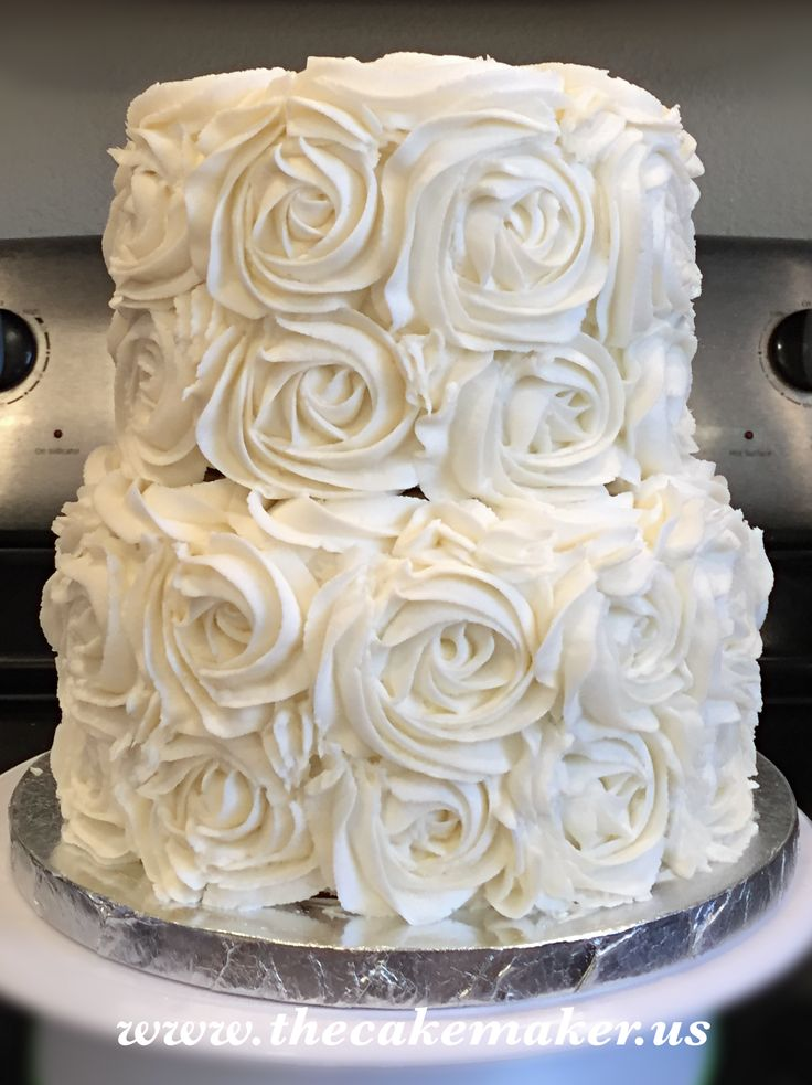 Best 25 Rosette Wedding Cakes Ideas On Pinterest