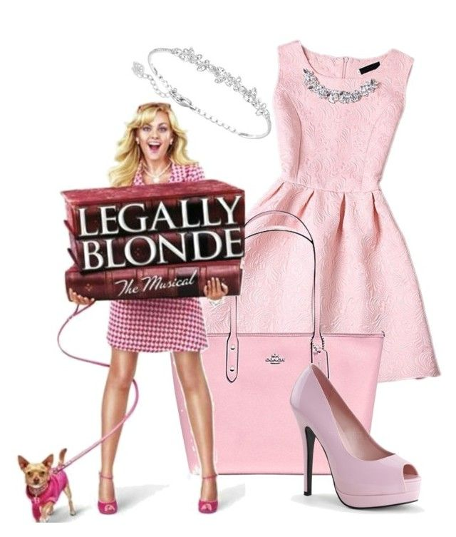 """Elle - Legally Blonde the Musical inspired outfit"" by thoroughlyadorkable on Polyvore featuring Coach and Swarovski"
