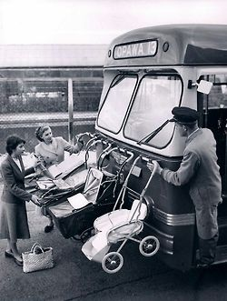 back-then:  Baby transport. New Zealand