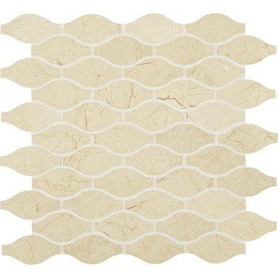 Itona Tile Harrison Marble Mosaic Tile In Crema Marfil Classico