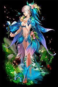 Аватар вконтакте Девушка со светлыми волосами в одежде из цветов и листьев…
