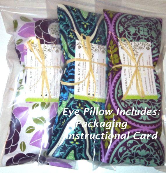 20 bulk wholesale eye pillows - removable cover - yoga  party favors