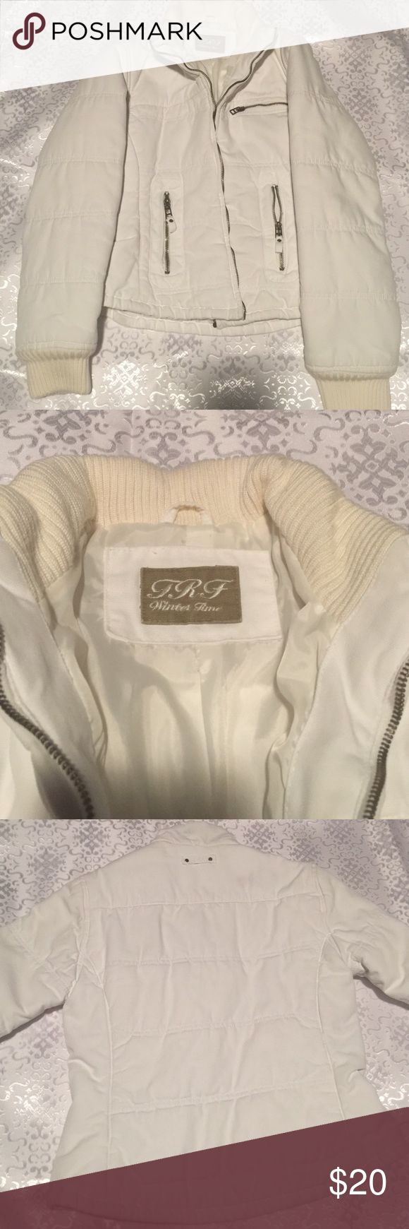 Zara winter Jacket White winter jacket by Zara. US size M. No stains. Zara Jackets & Coats