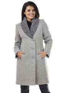 Płaszcze wełniane : Płaszcz: PW 203 szary | Odzież damska. REVE