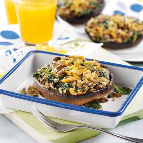 Champignons portobello farcis