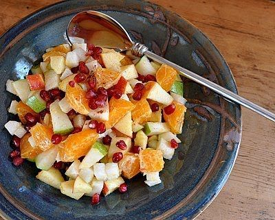 A light and simple fruit salad with a surprising mix of spices and fruits. Text, photograph and recipe for Mexican Fruit Salad © Kitchen Parade, All Rights Reserved.