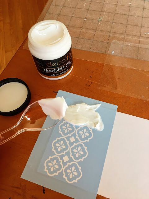 This is so so cool!!! Cut a vinyl stencil with your Silhouette and then add some dimension and foil!