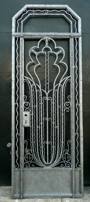 89 best art deco doors images on pinterest windows art deco art 1925 french art deco door with frame and canted corner transom sciox Images