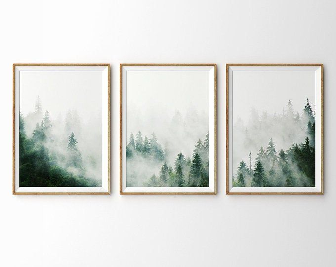 Forest Photography Printable Wall Art Minimalist Nature Wall Etsy In 2020 Forest Wall Art Modern Printable Wall Art Mountain Print