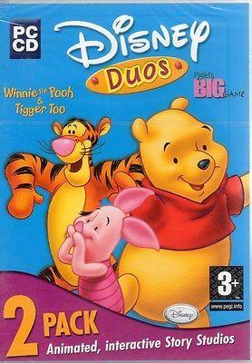 Disney Duos: Winnie & Piglet 2 Pack (Age 3) (PC-CD 1999) Windows - NEW DVD BOX