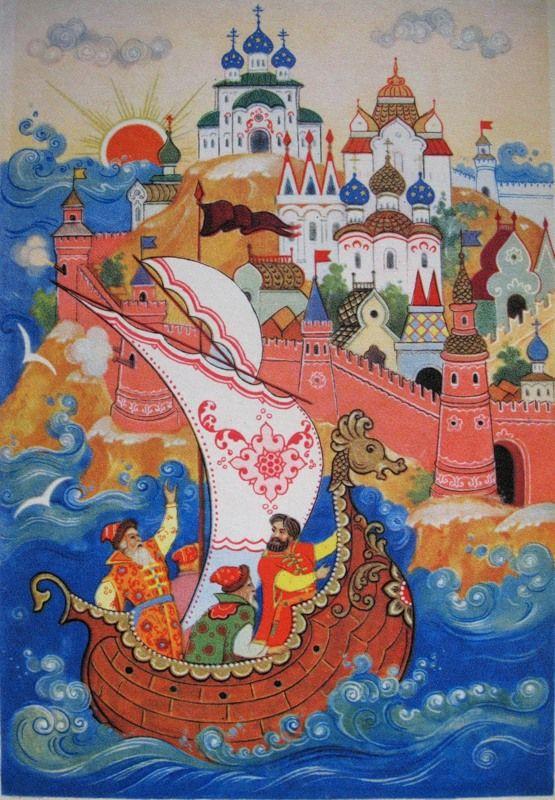 картинки из произведения пушкина о царе салтане