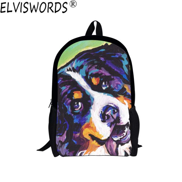 Trendy Oil Painting Boys School Bags Fashion Teenagers Bookbag Young Man Travel Cool Backpack College Student Laptop Bag mochila