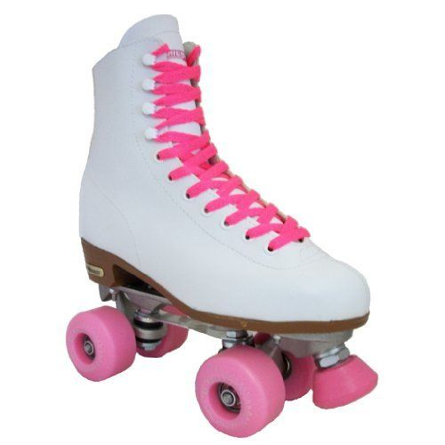 Chicago Outdoor Skates - Chicago Starter White - Pink Outdoor Wheels by Chicago. $109.00. Toe Stops - Fixed or Adjustable (Varies). Plates - Aluminum - Aluminum Chassis with Aluminum Double Action Adjustable Truck with Jump Bar and Toe Stop. Boots - Chicago- Tigalon Rink Pattern Boot with Eyelets & Speed Hooks. Wheels - 78A Road Rider Outdoor Urethane. Bearings - ABEC-1 - ABEC Rated Precision Speed Bearings. Chicago Outdoor Skates - Chicago Starter White - Pink O...