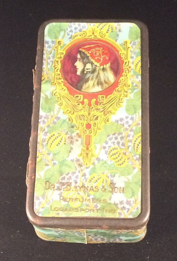 Art Nouveau Advertising Perfume Tin