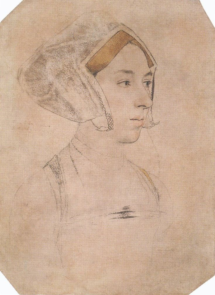 "A Lady, called Anne Boleyn, by Holbein, inscribed: ""Anne  Bullen decollata fuit"""