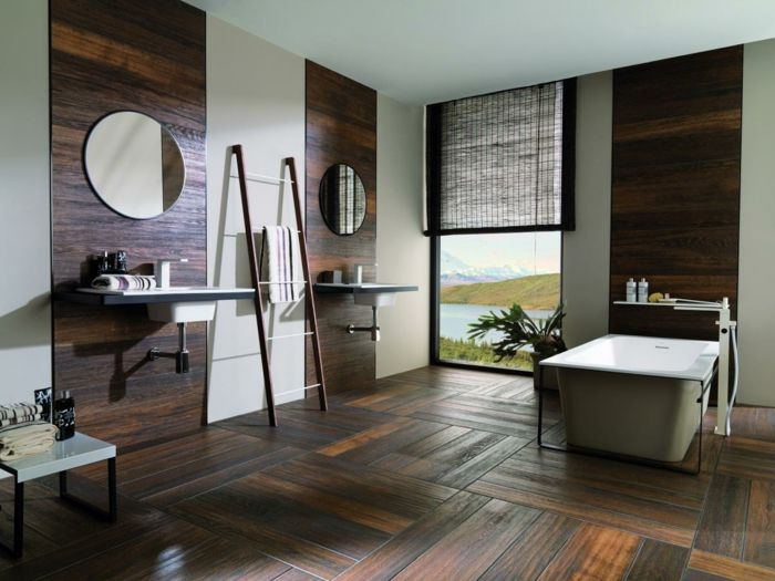 152 best Parquet images on Pinterest Contemporary houses, Home - Stratifie Mural Salle De Bain