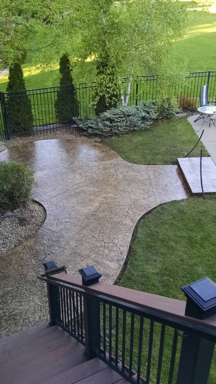 Roman Slate Stamped Concrete Patio Orchard Stone With