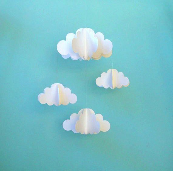 Nuage Mobile Mobile de pépinière papier 3D Cloud par goshandgolly