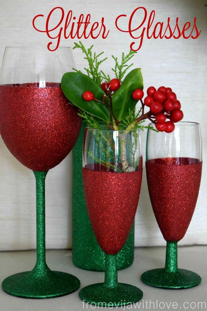 On The 1st Day Of Christmas Sparkle Diy Wine Glasses Christmas Wine Glasses Christmas Glitter Glasses