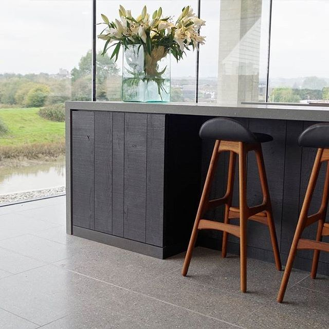 """Top UK designer Jeremy Pitts (@jeremypitts.co.uk )  successfully blends classic #ErikBuch Model 61 bar stool with a clean, contemporary minimalist interior.  His work was recently featured on the popular TV show """"Grand Designs"""" and we are proud to see his amazing design ethos.  #ErikBuch #ErikBuck #DanishDesign #DanishModern #ScandinavianDesign #DanishBarstool #Barstool #walnut #DanskMobelKunst #midcenturybarstool #midcenturymodern #MadeinDenmark #Cabinetmaker #Handmade #handcrafted #Walnut…"""