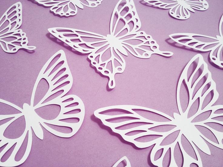 paper cut butterflies
