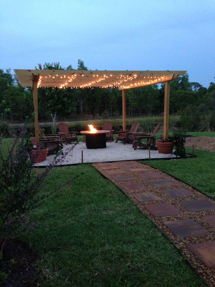 Backyard Fire Pit Amp Pergola Favorite Places And Spaces