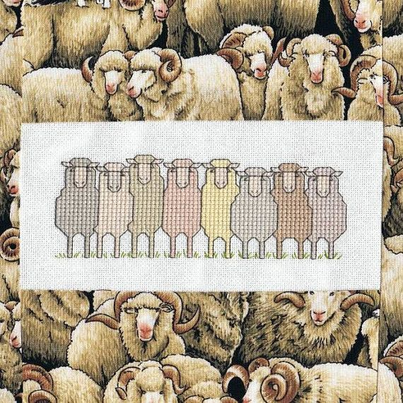 New Zealand Sheep cross stitch pdf pattern by CherrysCrossStitch