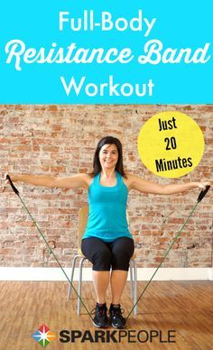 Try this 20-minute resistance band workout video when you are short on time but want to fit in your fitness.