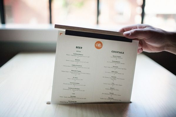 Menu design pop up from the table surface.