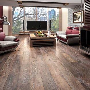 Kingsbridge Oak - This is a wide-plank, oak, engineered floor that's just rustic enough to look terrific in modern settings.