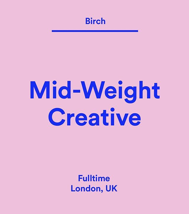 Wethemakersjobs Thinkbirch Is Looking For An Ambitious Talented And Creative Designer Who Ll Be Willing To Apply T Hello Design Creative Jobs Design Jobs
