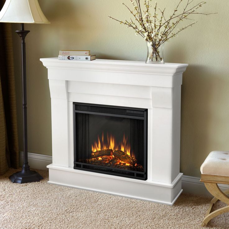 Real Flame White Chateau 40.94 in. L x 11.81 in. D x 37.6 in. H Electric Fireplace (White Chateau) (Metal)