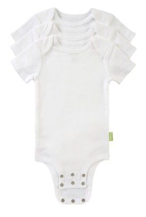 Disney Cuddly Body Suits.  Love them because they adjust and grow with baby!
