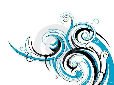 Water Wave Tattoos | ... Photo: Tribal wave pattern . Decorative swirls shaped as water wave - add names