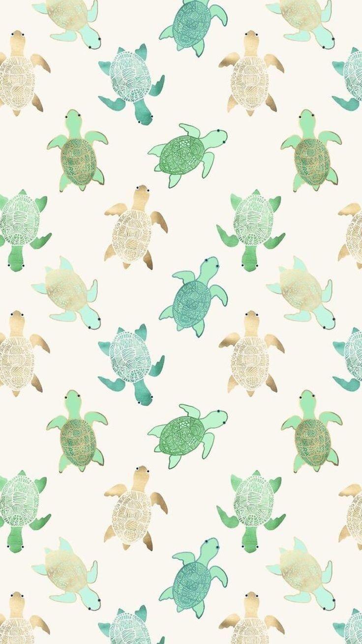 Turtle Iphone Background Wallpaper Turtle Wallpaper Cute Patterns Wallpaper