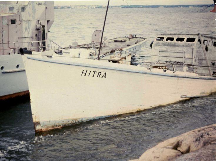Motiv: Tidligere ubåtjager HITRA på Tjurkö, Karlskrona. Babord baug.