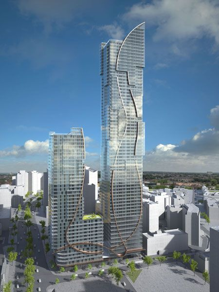 Plans to build the UK's second tallest building in Croydon have got the green light from local town planners