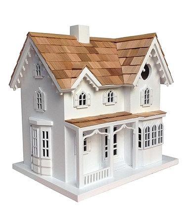 Love this White Ornamental Farmhouse Birdhouse on #zulily! #zulilyfinds