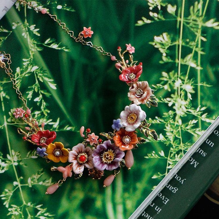 2017 Dichiarazione Nuovo Collier Collane marca famosa Fasion Winter Garden Flower Serie collana nappa per i monili di nozze le donne