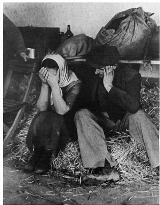 Unemployed in temporary accommodation, 1939