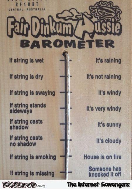 Funny Aussie barometer